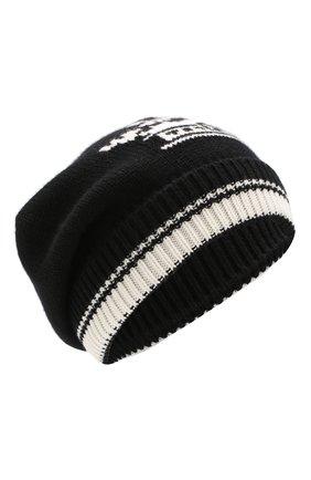 Кашемировая шапка с принтом   Фото №1