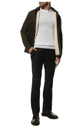 Мужской брюки прямого кроя из смеси шерсти и кашемира ZILLI темно-серого цвета, арт. M0Q-D0292-LACH1/R001 | Фото 2