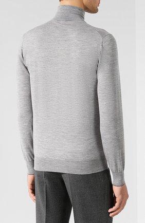 Водолазка из смеси шерсти и кашемира Brunello Cucinelli светло-серый   Фото №4