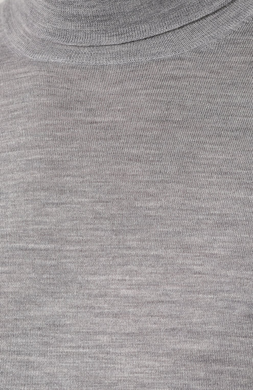 Водолазка из смеси шерсти и кашемира Brunello Cucinelli светло-серый   Фото №5
