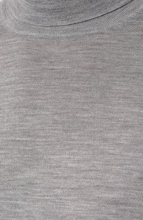 Однотонная водолазка из смеси шерсти и кашемира | Фото №5