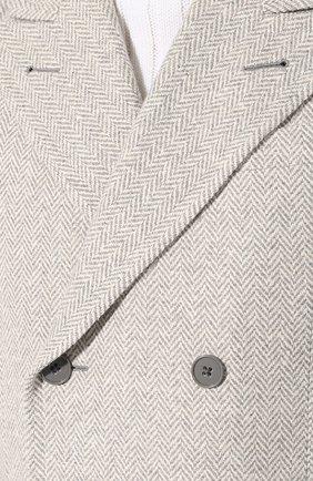 Двубортное пальто из смеси шерсти и шелка | Фото №5