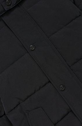 Куртка с меховой отделкой на капюшоне | Фото №3