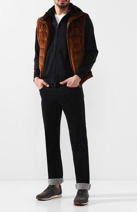 Мужские джинсы прямого кроя ZILLI темно-синего цвета, арт. MCQ-00250-DECH1/R001/AMIS | Фото 2