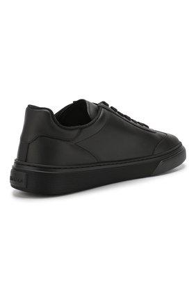 Кожаные кеды на шнуровке Hogan черные | Фото №4