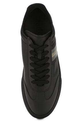 Кожаные кеды на шнуровке Hogan черные | Фото №5