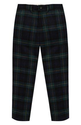 Шерстяные брюки прямого кроя   Фото №1