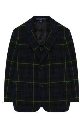 Шерстяной пиджак на двух пуговицах | Фото №1