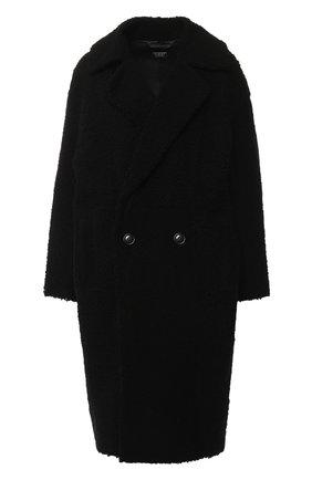 Женская двубортное пальто из овчины ANNE VEST черного цвета, арт. AW18/01/203/01/C0ZE | Фото 1 (Статус проверки: Проверена категория, Проверено; Рукава от горловины: Длинные; Рукава: Длинные; Длина (верхняя одежда): До колена; Материал внешний: Натуральный мех)
