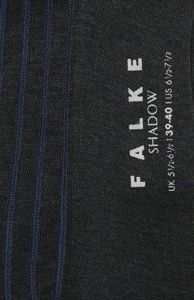 Мужские хлопковые носки shadow FALKE серого цвета, арт. 14648 | Фото 2