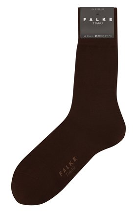 Мужские хлопковые носки tiago FALKE темно-коричневого цвета, арт. 14662 | Фото 1