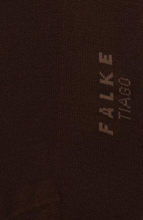 Мужские хлопковые носки tiago FALKE темно-коричневого цвета, арт. 14662 | Фото 2