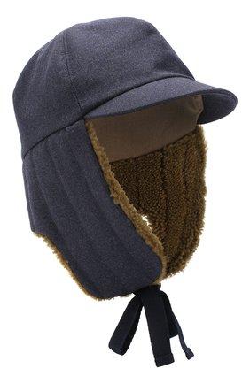 Шерстяная шапка-ушанка  | Фото №1