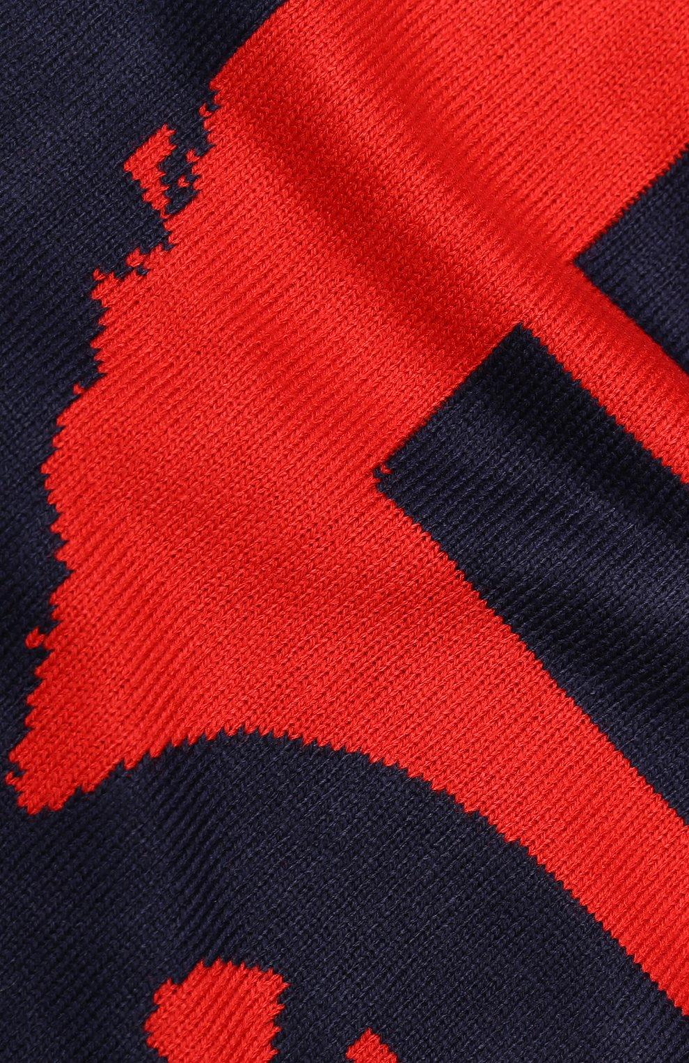 Шарф  с логотипом бренда Diesel красный | Фото №2