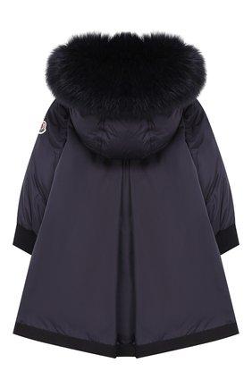Детского пуховое пальто с капюшоном MONCLER ENFANT синего цвета, арт. D2-951-49934-25-68352 | Фото 2
