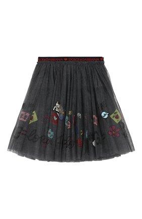 Многослойная юбка с аппликациями | Фото №1