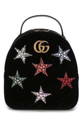 Рюкзак GG Marmont из бархата | Фото №1
