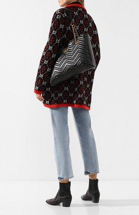Сумка-тоут GG Marmont  Gucci черная цвета   Фото №2