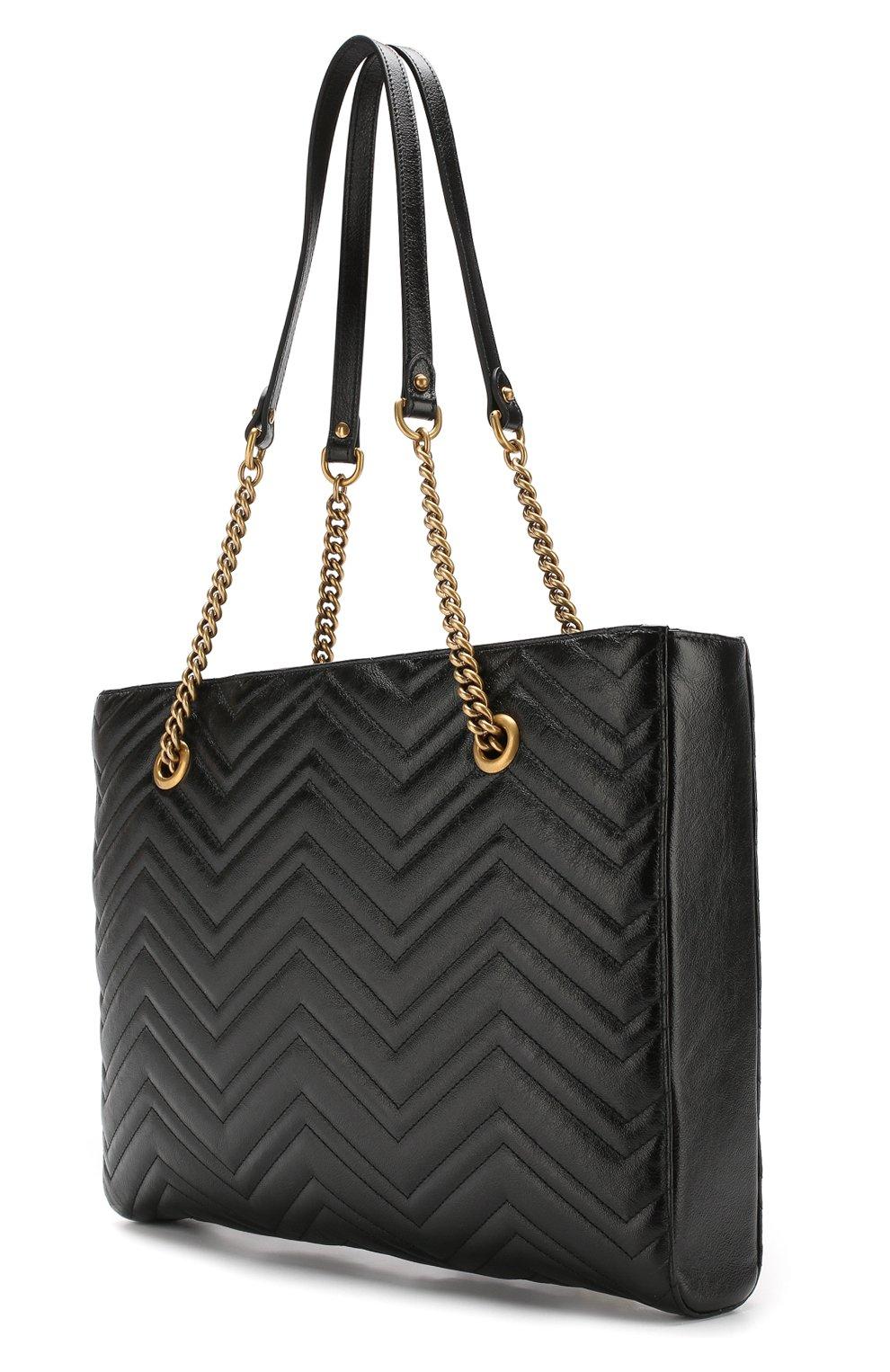 Сумка-тоут GG Marmont  Gucci черная цвета   Фото №3