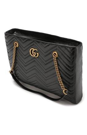 Сумка-тоут GG Marmont  Gucci черная цвета   Фото №4