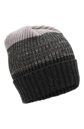 Шерстяная шапка фактурной вязки | Фото №1