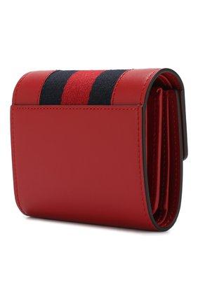 Женские кожаный кошелек sylvie с клапаном GUCCI красного цвета, арт. 476081/CWLSG | Фото 2