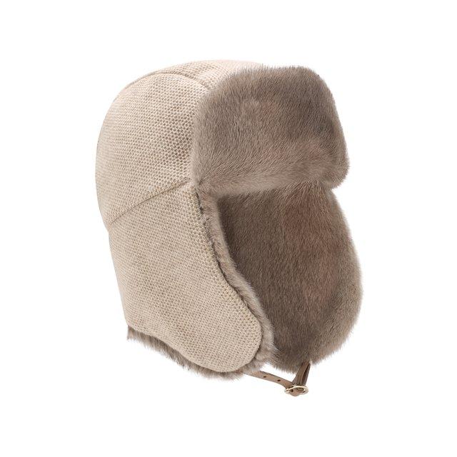 Кашемировая шапка с меховой отделкой Inverni