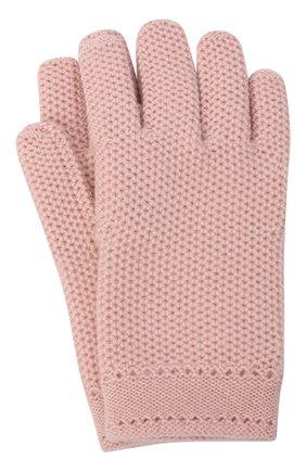 Женские кашемировые перчатки LORO PIANA светло-розового цвета, арт. FAA1252 | Фото 1 (Материал: Шерсть, Кашемир; Статус проверки: Проверено)
