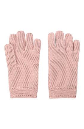 Женские кашемировые перчатки LORO PIANA светло-розового цвета, арт. FAA1252 | Фото 2 (Материал: Шерсть, Кашемир; Статус проверки: Проверено)