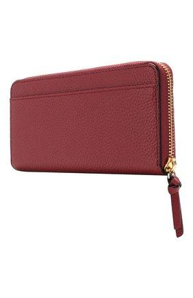 Кожаный кошелек на молнии Kate Spade New York красного цвета | Фото №2