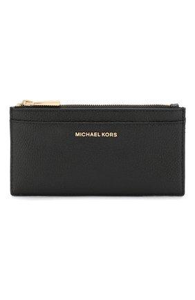 Женский кожаный футляр для кредитных карт MICHAEL MICHAEL KORS черного цвета, арт. 32S8GF6D7L | Фото 1
