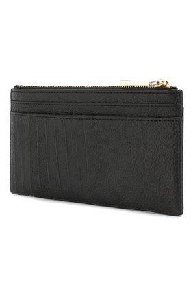 Женский кожаный футляр для кредитных карт MICHAEL MICHAEL KORS черного цвета, арт. 32S8GF6D7L | Фото 2