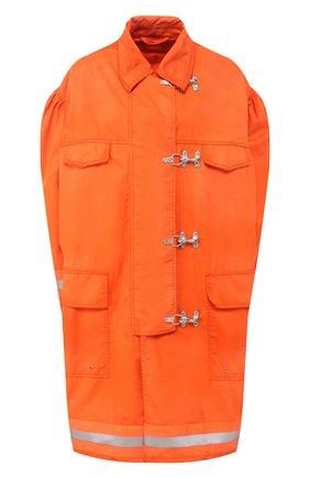Пальто свободного кроя с накладными карманами | Фото №1