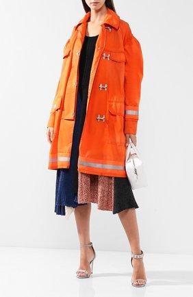 Пальто свободного кроя с накладными карманами | Фото №2