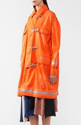 Пальто свободного кроя с накладными карманами | Фото №3