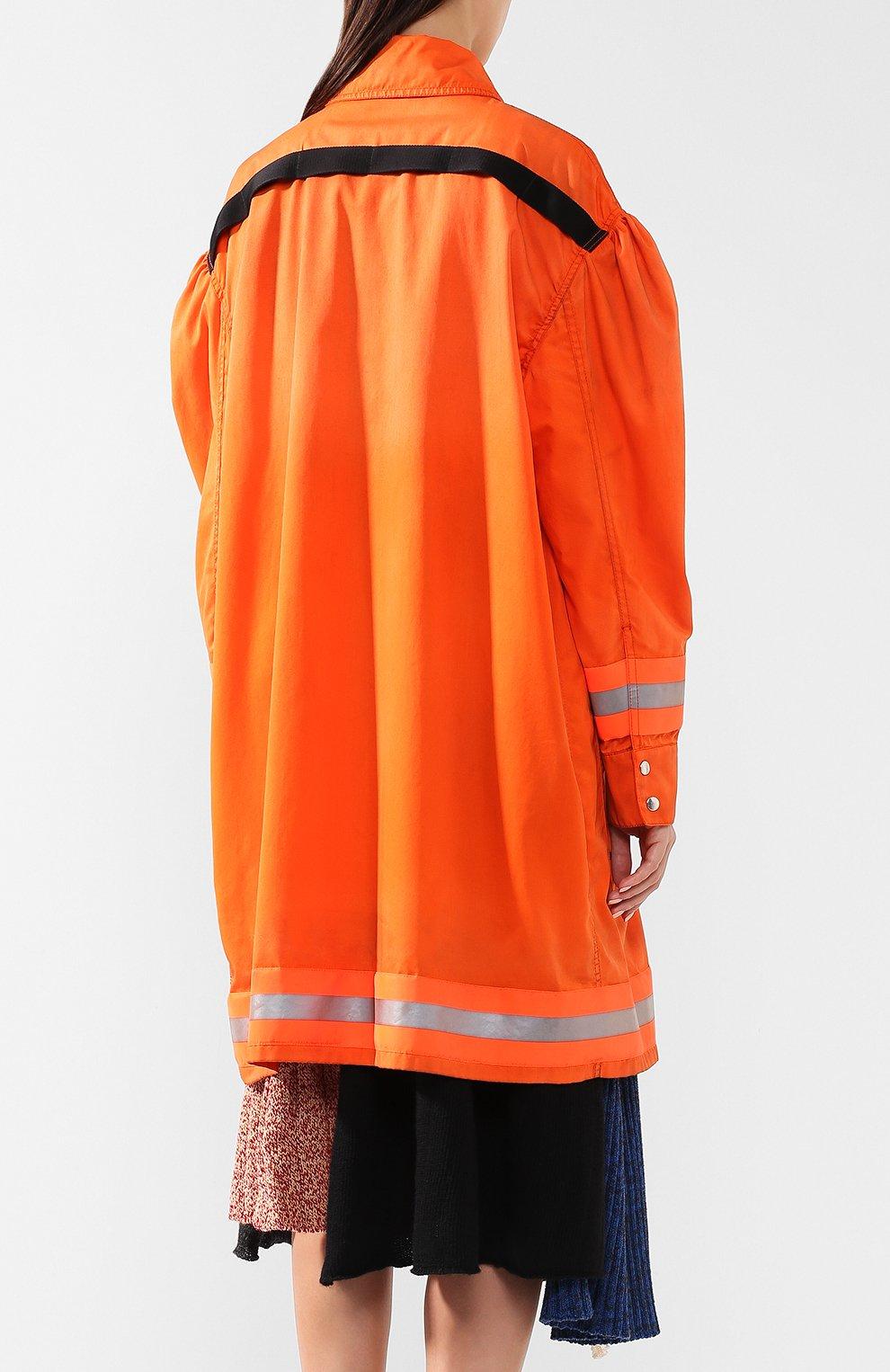 Пальто свободного кроя с накладными карманами | Фото №4