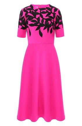 Шерстяное платье-миди с декоративной отделкой | Фото №1
