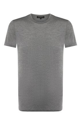 Шелковая футболка с круглым вырезом | Фото №1