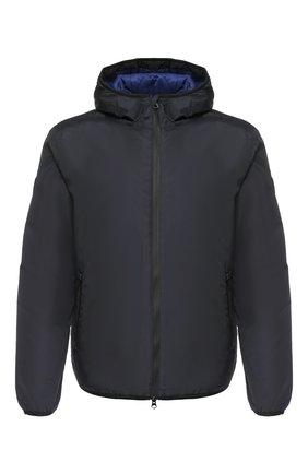 Мужская утепленная куртка на молнии с капюшоном EA 7 темно-синего цвета, арт. 6ZPB34/PN02Z | Фото 1
