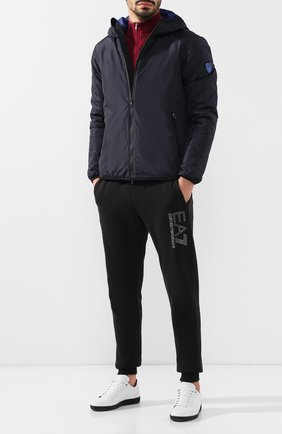 Мужская утепленная куртка на молнии с капюшоном EA 7 темно-синего цвета, арт. 6ZPB34/PN02Z | Фото 2