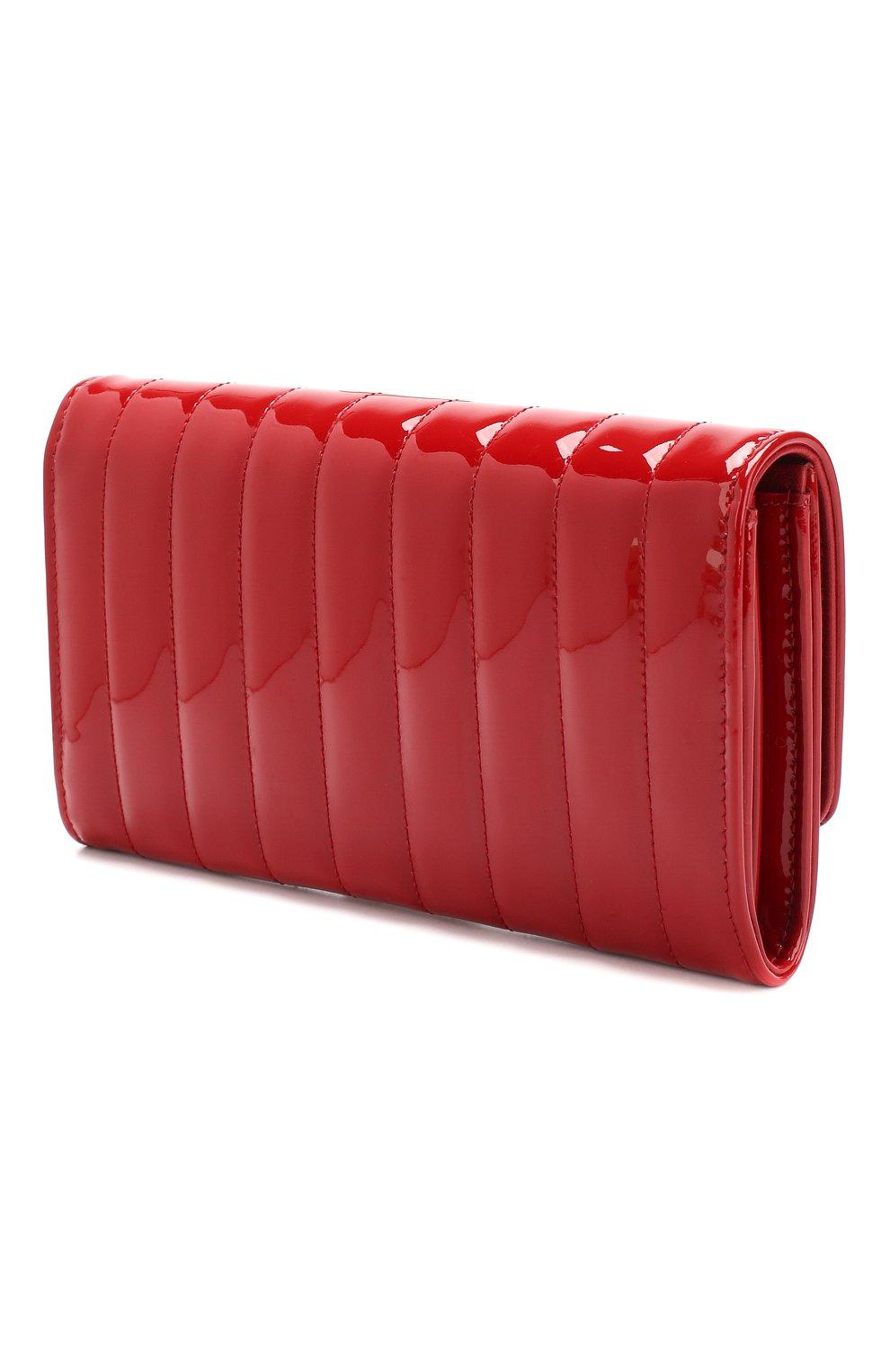 Лакированный кошелек Vicky Saint Laurent красного цвета | Фото №2