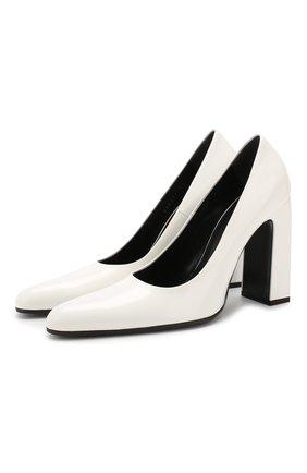 Кожаные туфли Round на устойчивом каблуке | Фото №1