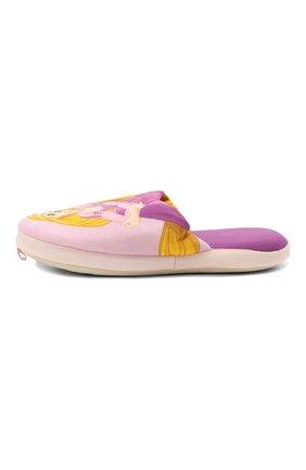 Детского текстильная домашняя обувь DE FONSECA розового цвета, арт. ROMA G490RU   Фото 2