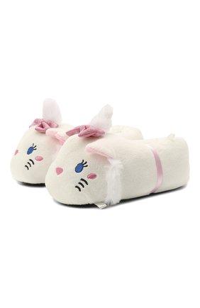 Детского текстильная домашняя обувь DE FONSECA белого цвета, арт. TEVERE G480RU   Фото 1