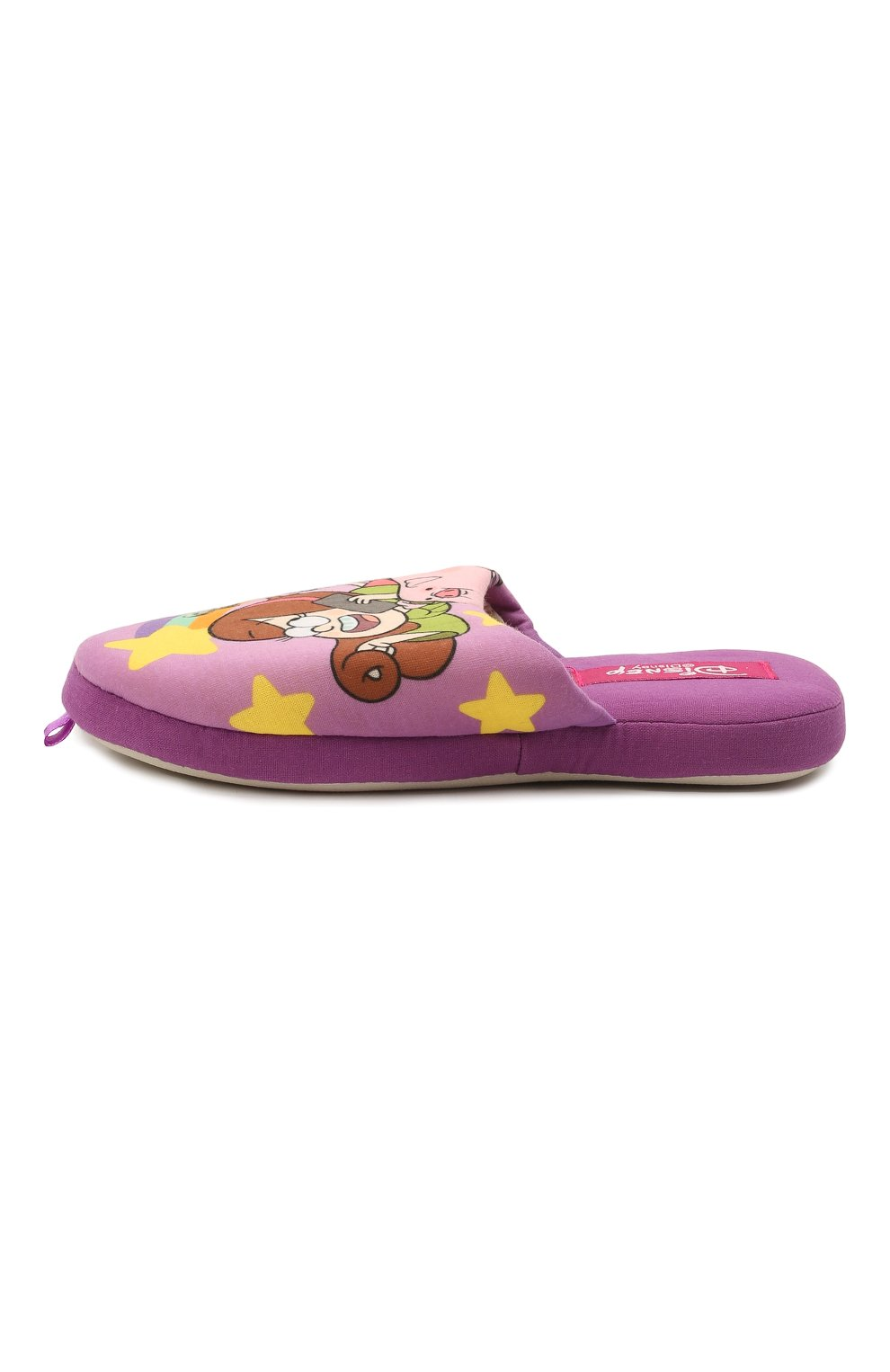 Детского текстильная домашняя обувь DE FONSECA фиолетового цвета, арт. ROMA G491RU   Фото 2 (Материал внешний: Текстиль; Статус проверки: Проверена категория)