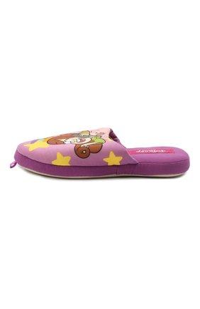 Детского текстильная домашняя обувь DE FONSECA фиолетового цвета, арт. ROMA G491RU   Фото 2