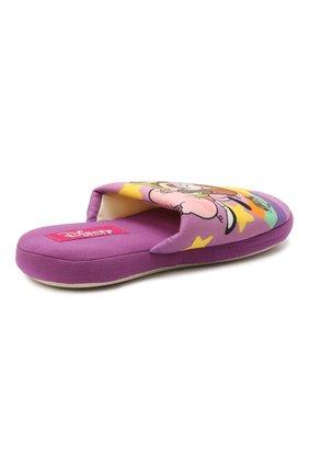 Детского текстильная домашняя обувь DE FONSECA фиолетового цвета, арт. ROMA G491RU   Фото 3 (Материал внешний: Текстиль; Статус проверки: Проверена категория)