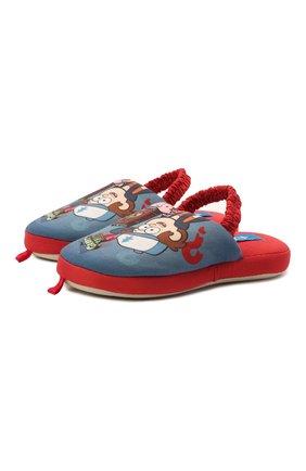 Детского текстильная домашняя обувь DE FONSECA синего цвета, арт. ROMA K490RU | Фото 1 (Материал внешний: Текстиль)