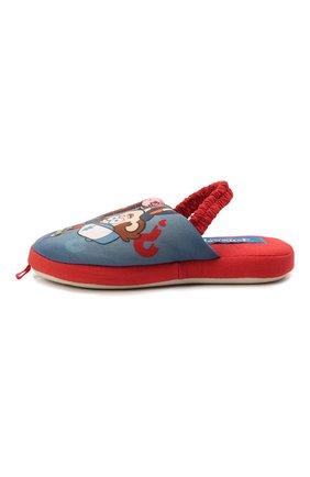 Детского текстильная домашняя обувь DE FONSECA синего цвета, арт. ROMA K490RU | Фото 2 (Материал внешний: Текстиль)