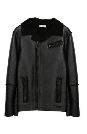 Куртка с косой молнией и фактурной отделкой | Фото №1